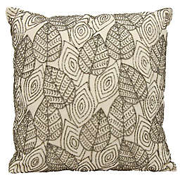 Michael Amini Leaves Square Throw Pillow