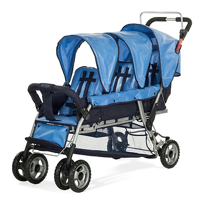Alternate image 1 for Child Craft™ 3-Passenger Sport Stroller in Regatta Blue