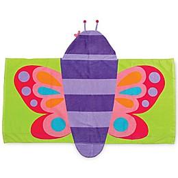 Stephen Joseph® Butterfly Hooded Towel in Purple