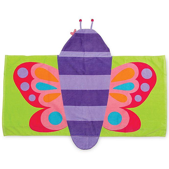 Alternate image 1 for Stephen Joseph® Butterfly Hooded Towel in Purple