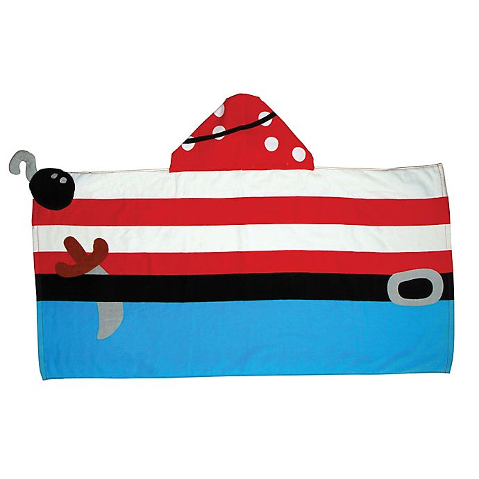Alternate image 1 for Stephen Joseph® Pirate Hooded Towel in Red