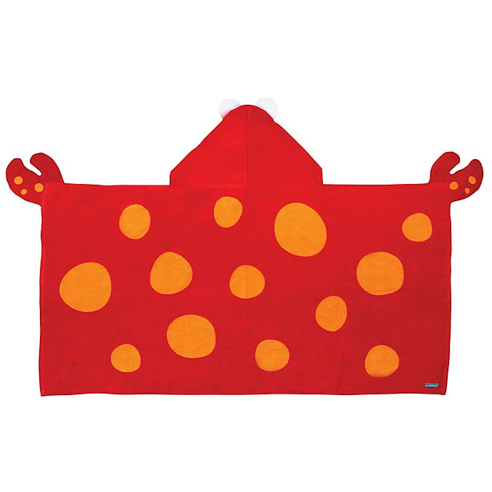 Alternate image 1 for Stephen Joseph® Crab Hooded Towel in Red