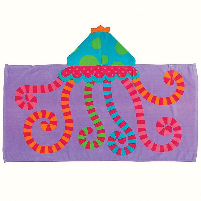 Alternate image 1 for Stephen Joseph® Jellyfish Hooded Towel in Purple