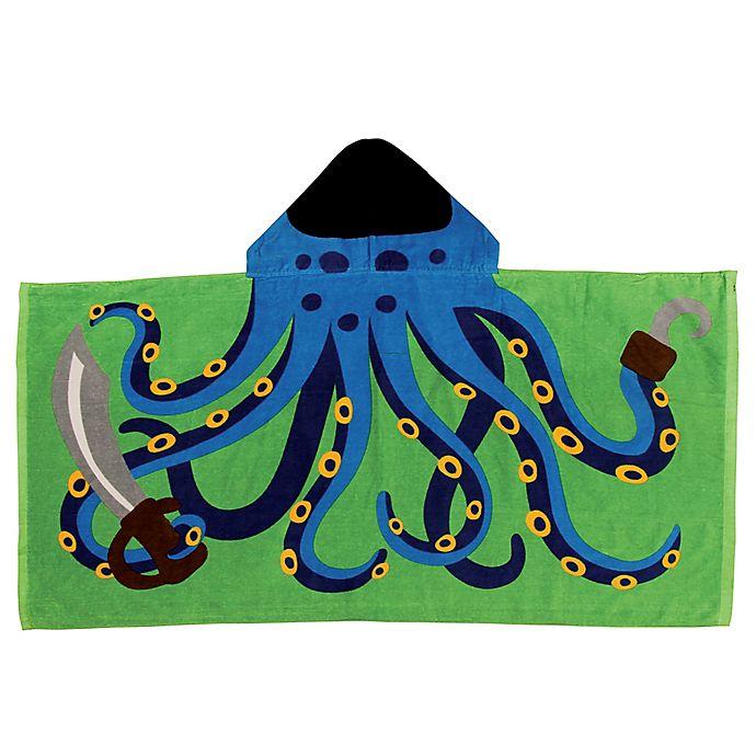Alternate image 1 for Stephen Joseph® Octopus Pirate Hooded Towel in Blue