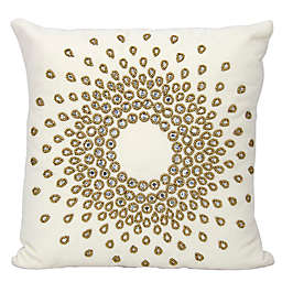 Mina Victory Couture Luster Sun Burst Beauty Square Throw Pillow Collection