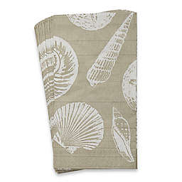 Caspari Shells and Sand 16-Count Paper Guest Towels
