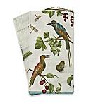 Caspari Jeweled Birds 16-Count Paper Guest Towels