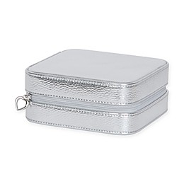 Mele & Co. Luna Metallic Faux Leather Travel Jewelry Case