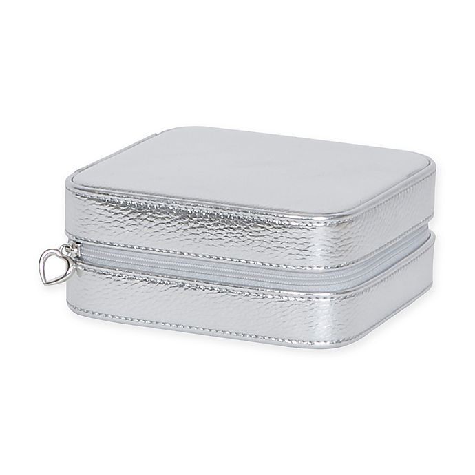 Alternate image 1 for Mele & Co. Luna Metallic Faux Leather Travel Jewelry Case