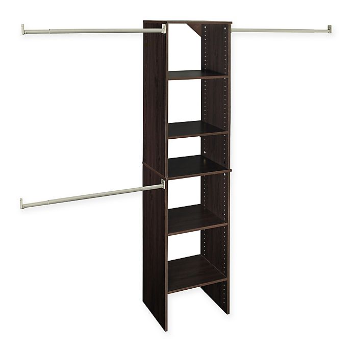 ClosetMaidR SuiteSymphonyTM 16 Inch Tower Starter Kit In Espresso