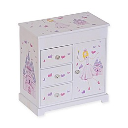 Mele & Co. Adalyn Girl's Musical Ballerina Jewelry Box in White/Pink