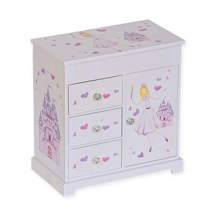 Alternate image 1 for Mele & Co. Adalyn Girl's Musical Ballerina Jewelry Box in White/Pink