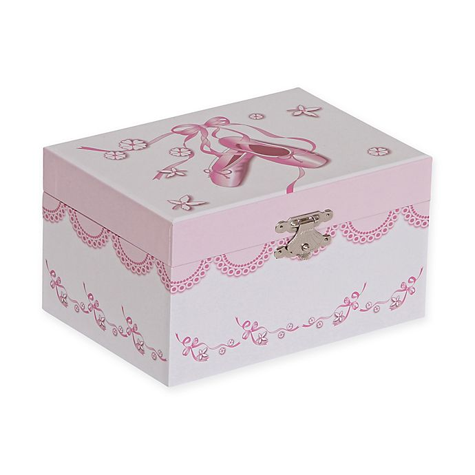 Alternate image 1 for Mele & Co. Clarice Girl's Musical Ballerina Jewelry Box in White/Pink