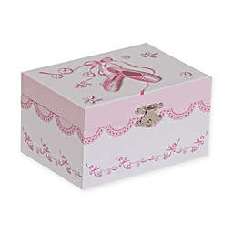Mele & Co. Clarice Girl's Musical Ballerina Jewelry Box in White/Pink