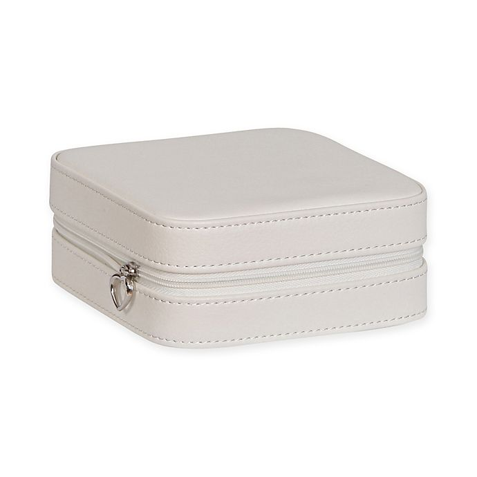 Alternate image 1 for Mele & Co. Dana Faux Leather Travel Jewelry Case in Ivory