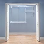 ClosetMaid® ShelfTrack® 4-Foot to 6-Foot Wire Closet Organizer Kit in White