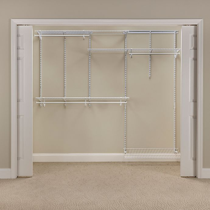 Closetmaid Shelftrack 5 Foot To 8 Wire Closet Organizer Kit In White