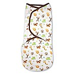 SwaddleMe® Original Swaddle Large 1-Pack Graphic Jungle in White/Tan