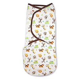 SwaddleMe® Original Swaddle Graphic Jungle Swaddle in White/Tan