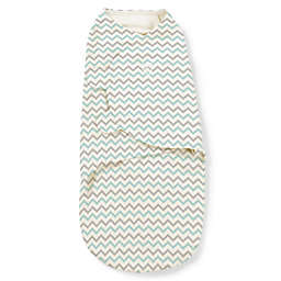 SwaddleMe® Original Swaddle Small/Medium 1-Pack Gray and Teal Chevron
