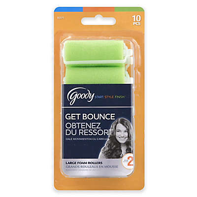 Goody® Styling Essentials 10-Count Large Foam Hair Rollers in Green