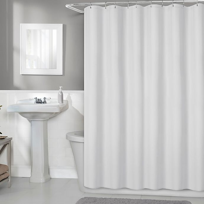 Alternate image 1 for Titan 70-Inch x 72-Inch Fabric Shower Curtain Liner in White