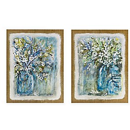 Madison Park Burlap Blossoms Canvas Wall Art (Set of 2)