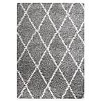 Carpet Art Deco Cristal 5'3  x 7'5  Shag Area Rug in Grey