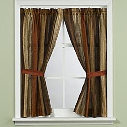 Manor Hill® Sierra Copper Bath Window Curtain Panel Pair