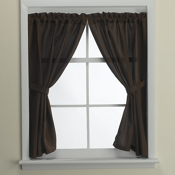 Alternate image 1 for Westerly Bath Window Curtain Pair in Mocha