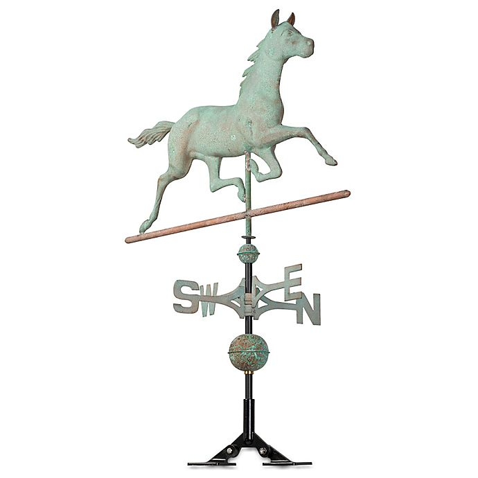 Alternate image 1 for Whitehall Products Copper Horse Weathervane with Verdigris Finish