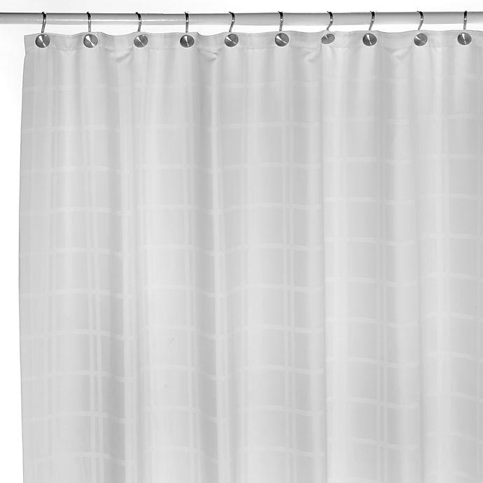 Royal Velvet Duet White Water Repellent 72 X Fabric Shower Curtain