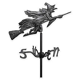 Whitehall Products Flying Witch Garden Weathervane in Black