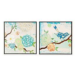 Intelligent Design Art Blooming Florals Wall Art (Set of 2)