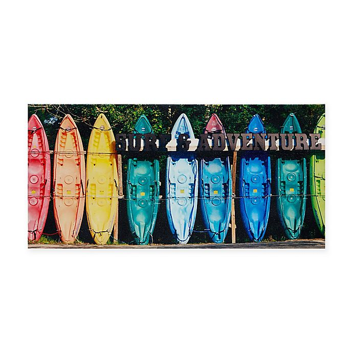 Alternate image 1 for Intelligent Design Kayaking Colors Photographic Wall Art