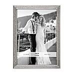 Arte De Casa 5-Inch x 7-Inch Double Row Glitter Frame in Silver