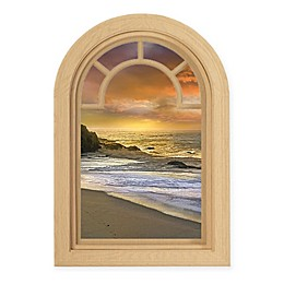 Courtside Market Contour Art Elements Coastal Sunset 16-Inch x 24-Inch Wall Decal