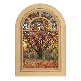 Courtside Market Contour Art Elements Autumn Tree 16-Inch x 24-Inch Wall Decal