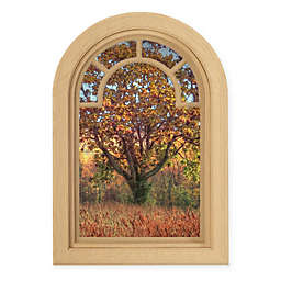 Contour Art Elements Autumn Tree 20-Inch x 30-Inch Peel & Stick Wall Decal