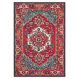 Safavieh Monaco Traditional Area Rug in Red/Turquoise