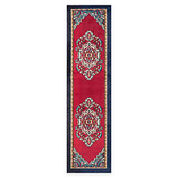 Safavieh Monaco Traditional 2-Foot 2-Inch x 10-Foot Runner in Red/Turquoise
