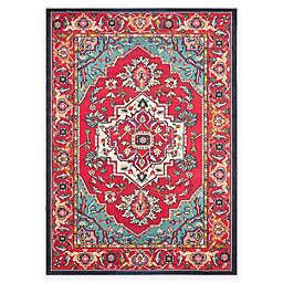 Safavieh Monaco Traditional 6-Foot 7-Inch x 9-Foot 2-Inch Area Rug in Red/Turquoise