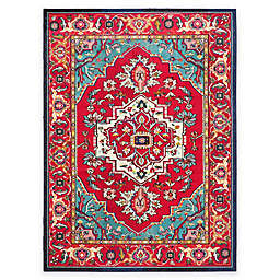 Safavieh Monaco Traditional 9-Foot x 12-Foot Area Rug in Red/Turquoise