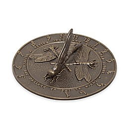 Whitehall Products Dragonfly Sundial in French Bronze