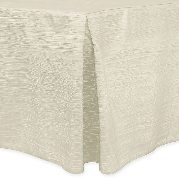 Alternate image 1 for Delano 8-Foot Fitted Tablecloth in Ivory
