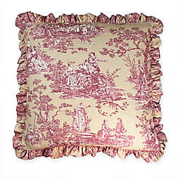 Sherry Kline Country Sunset Main Ruffles European Pillow Sham in Burgundy