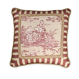 Sherry Kline Country Sunset Pieced Square Throw Pillow in Burgundy