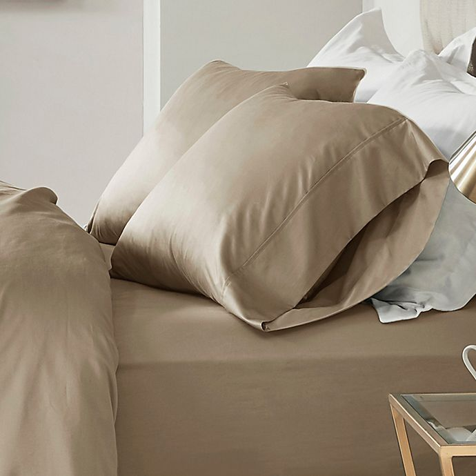 Alternate image 1 for Madison Park 600-Thread-Count Cotton Queen Sheet Set in Stone