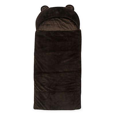 Decorinnovation Youth Faux Fur Bear Hood Sleeping Bag