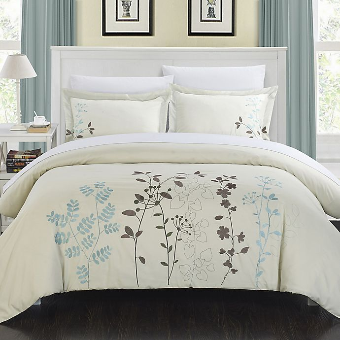 Alternate image 1 for Chic Home Kathy 3-Piece King Duvet Cover Set in Beige